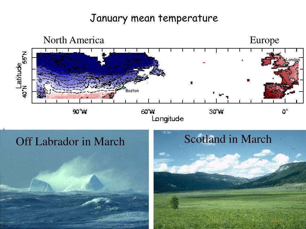 January mean temperature