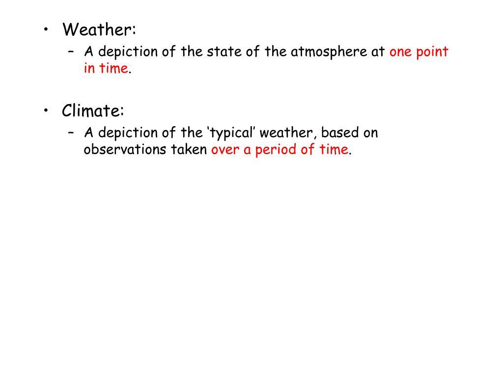 Weather: