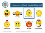 assessment what is your initial reaction