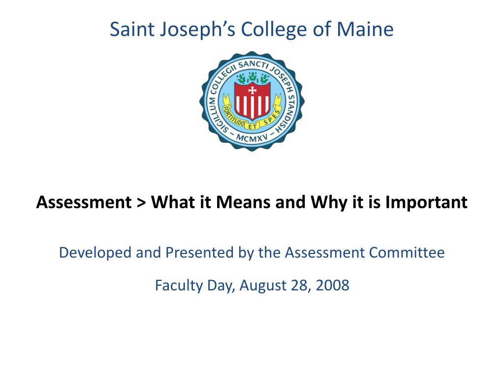 assessment what it means and why it is important l.