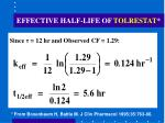 effective half life of tolrestat