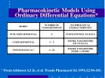 pharmacokinetic models using ordinary differential equations
