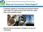 what are conversion technologies