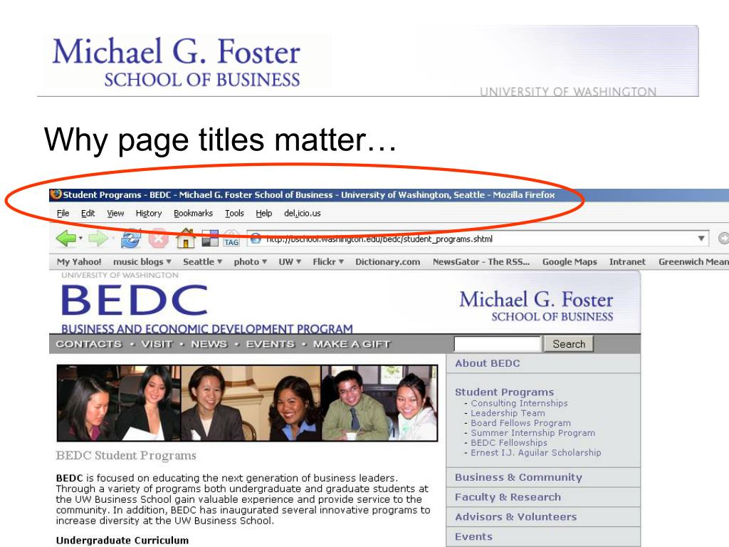 Why page titles matter…