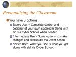 personalizing the classroom