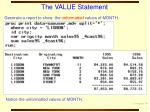 the value statement7