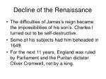 decline of the renaissance