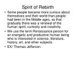 spirit of rebirth