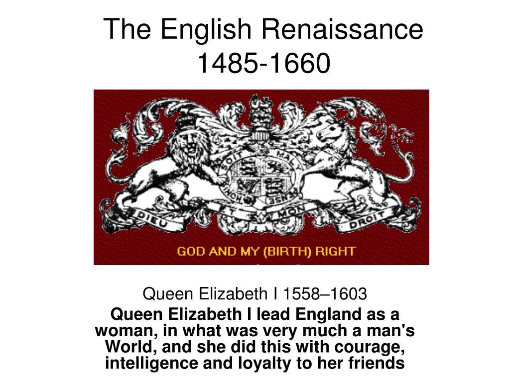 the english renaissance 1485 1660 l.