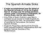 the spanish armada sinks