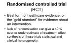 randomised controlled trial rct