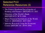 selected print reference resources 3