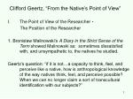 clifford geertz from the native s point of view
