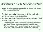 clifford geertz from the native s point of view12