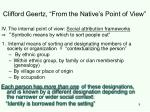 clifford geertz from the native s point of view9