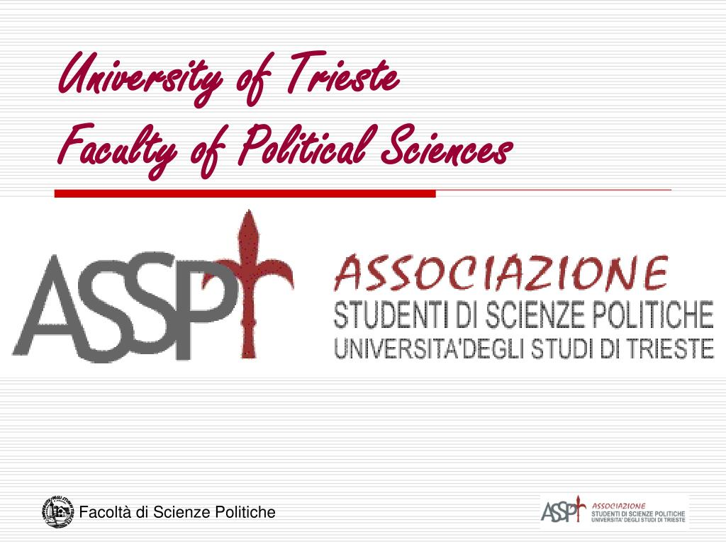 university of trieste faculty of political sciences l.