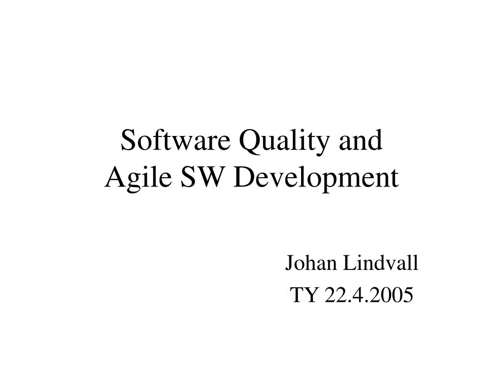 Software Quality and