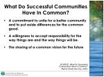 what do successful communities have in common46
