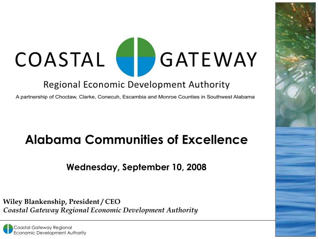 wiley blankenship president ceo coastal gateway regional economic development authority l.