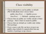 class visibility