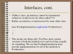 interfaces cont