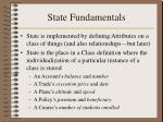 state fundamentals