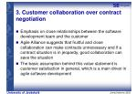3 customer collaboration over contract negotiation