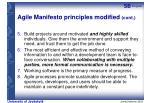 agile manifesto principles modified cont
