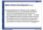 agile software development cont6