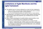 limitations of agile manifesto and the agile framework