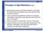 principles of agile manifesto cont
