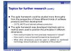 topics for further research cont