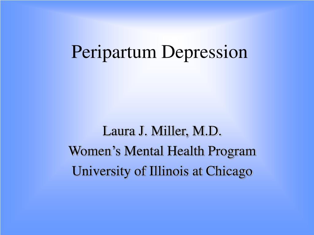 peripartum depression l.
