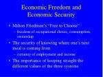economic freedom and economic security