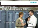 program and system engineering pse