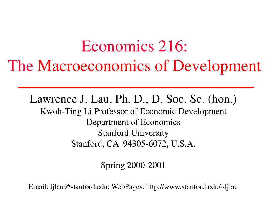 Economics 216: