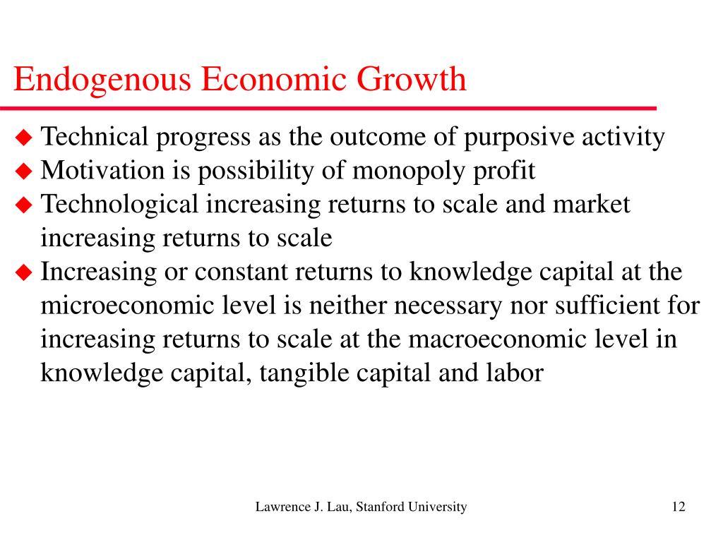 Endogenous Economic Growth