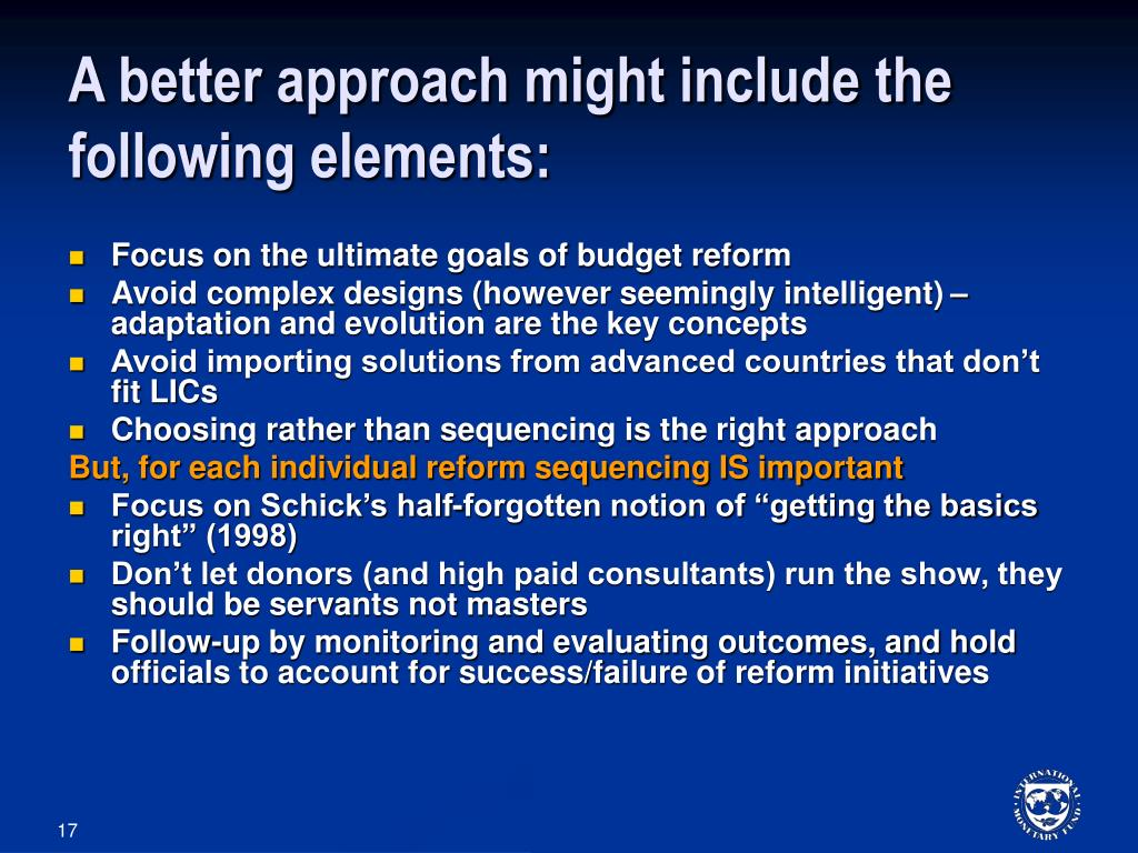 A better approach might include the following elements:
