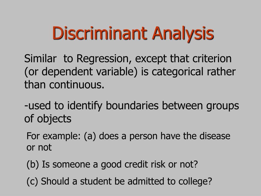 discriminant analysis l.