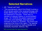 selected narratives