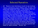 selected narratives33