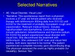 selected narratives34