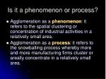is it a phenomenon or process