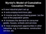 myrdal s model of cumulative causation process