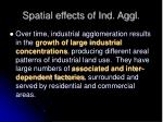 spatial effects of ind aggl