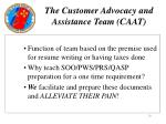 the customer advocacy and assistance team caat10