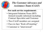 the customer advocacy and assistance team caat11
