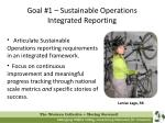 goal 1 sustainable operations integrated reporting
