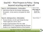 goal 2 pilot projects to policy going beyond recycling and lights off12