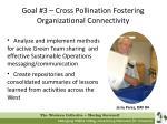 goal 3 cross pollination fostering organizational connectivity